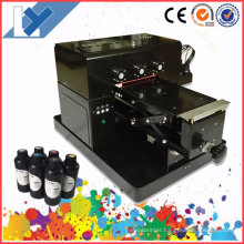 A4 Size Cheapest UV LED and 6 Colors Flatbed Printer for Golf/Pen/Phone/Case/PVC Card