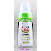 Bouteille d'alimentation pour bébés en verre à base de bore Boroslicate neutre de 120 ml