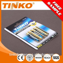 with SGS/CE/MSDS 1.5v aaa lr03 alkaline/dry camera battery high quality