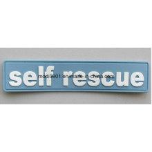 Rubber Badge for Garment Custom PVC Hook & Loop Patch, Silicone Rubber Patch, Garment PVC Badge,