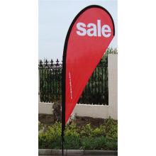 Bannière de drapeau en forme de larme personnalisé Business Design