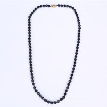 Collier perle de verre noir Chine