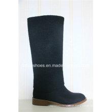 Novo design de moda Flat Heel Women Winter Boot