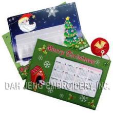 X′mas Embroidered Calendar Cards