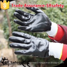 SRSAFETY 13 gauge knitted liner coated nitrile gloves, safety working gloves, nitrile coated working gloves