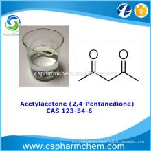 Acetilacetona 99,55% CAS 123-54-6, intermedio de síntesis orgánica