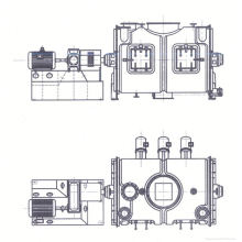 2017 LDH series coulter type mixing machine, SS blending mixer, horizontal blender for nuts and seeds
