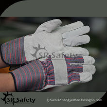 """SRSAFETY 10.5"""" patched palm cow split leather working gloves"""