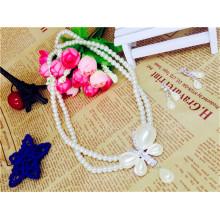 Suzhou Real Foto Elegant Kristall Perlen Perle Halskette Ohr Piercing Ohrstecker