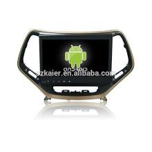 ¡Cuatro nucleos! DVD del coche de Android 4.4 / 5.1 para Jeep Cherokee con pantalla capacitiva de 10.1 pulgadas / GPS / Enlace espejo / DVR / TPMS / OBD2 / WIFI / 4G