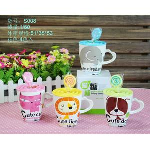 Dulce Animal taza con cuchara paleta