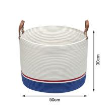 Экологичная корзина для белья для детской одежды из хлопковой веревки