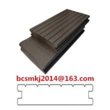 Decking composto plástico de madeira da garantia longa para o assoalho impermeável exterior