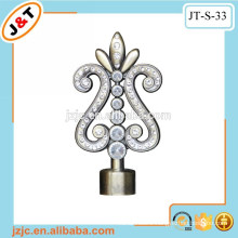 fine quality curved flexible shower curtain rod with diamond finial