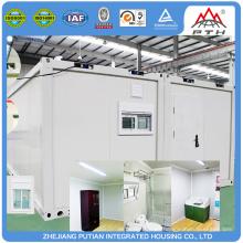 Contenedor de acero modular y la casa de vidrio rápido construcción de edificios