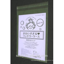 Bolsa de plástico transparente con impresión y sellado autoadhesivo
