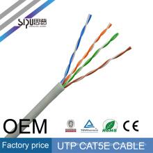 Precio de fábrica de SIPU 26awg utp cat5e 4 par al por mayor cat5 lan proveedor mejor cable de gato 5