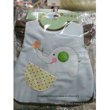 OEM Produce Customized Applique Embroidered Cotton Terry Baby Bib