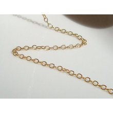 2015 Gets.com14k Gold gefüllte ovale Kette, goldgefüllte Befunde und Komponenten