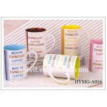 Wholesale 2015 11oz new bone china coffee mug/straight body coffee cup/ Factory price decal printed new bone china mugs