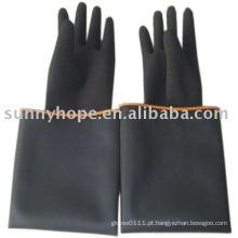 Luva de borracha preta para trabalhador industrial