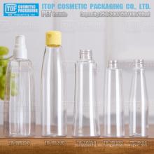 80ml 100ml 150ml 200ml y 250ml diseño encantador y hermoso caliente-vendiendo diferentes claro botellas plásticas pet