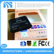 Brand New 5 в 1 OTG Micro USB 2.0 SD Card Reader для смартфона Samsung Galaxy S3 S4