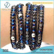 Best sale bohemian wholesale jewelry diy leather bracelet with boho style