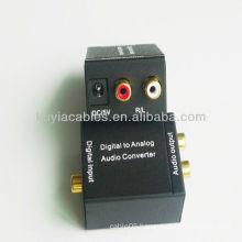 Digital Optical to Analog L/R RCA Audio Converter Adapter
