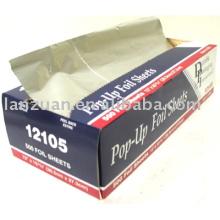 feuilles de papier d'aluminium il