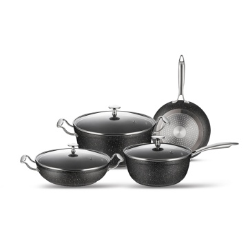 Forged Aluminum Marble Coating Cookware Set