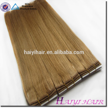 New Arrival Double Drawn Thick Ends Remy Hair Chocolate