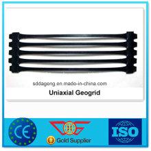 HDPE Uniaxial Geogitter für den Straßenbau