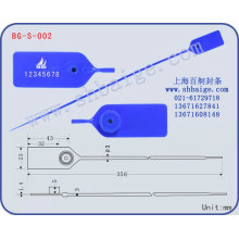 plastic seal tag BG-S-002 for security use, plastic bag seal