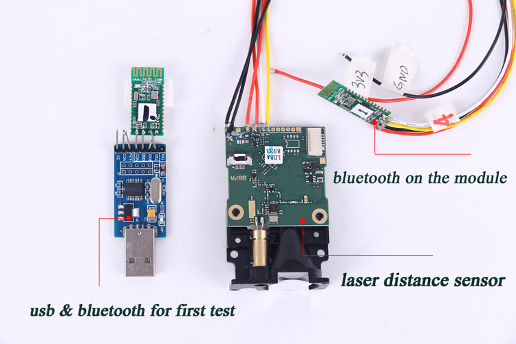 how to test the bluetooth distance module
