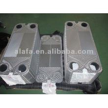 AK20 recambio 316L placa, intercambiador de calor placas, SS304, 316L, material de titanio