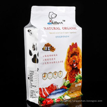 Qingdao Factory Composite Film PP PE HDPE Pet VMPET Sustainable Material Three Side Sealing Cmyk Printing Digtial Printing Self Sealing Pet Food Pouch