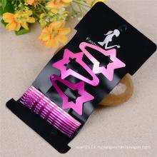 Девушки мода ювелирные изделия Звезда, волна окрашенный металл заколки для волос (JE1024)