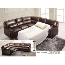 Living Room Leather Sofa Bed (657)