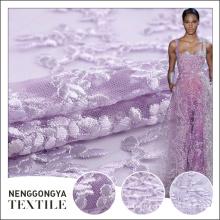 Diseño personalizado hermoso bordado de tela indio de malla