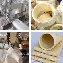 Material de feltro de filtro para filtros de saco de coleta de poeira