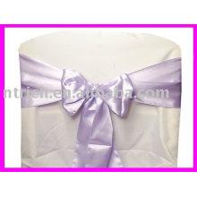 ленты, фиолетовый атласные ленты, стул галстук, стул обертывания