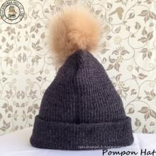 Chapeau Pompon / Bonnet Chapeau / Hiver (BH-02)