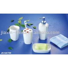 Ensemble de salle de bains en porcelaine de couleur blanche 4pcs JX-SA709