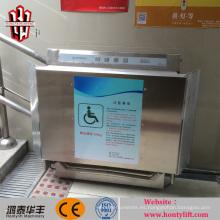 escalera inclinada eléctrica para sillas de ruedas elevador para escaleras / elevador sin barreras para discapacitados