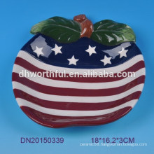 American flag design ceramic bowl