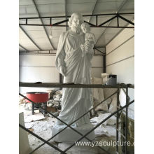 Inventory Large Fiberglass Jesus With Baby Statue
