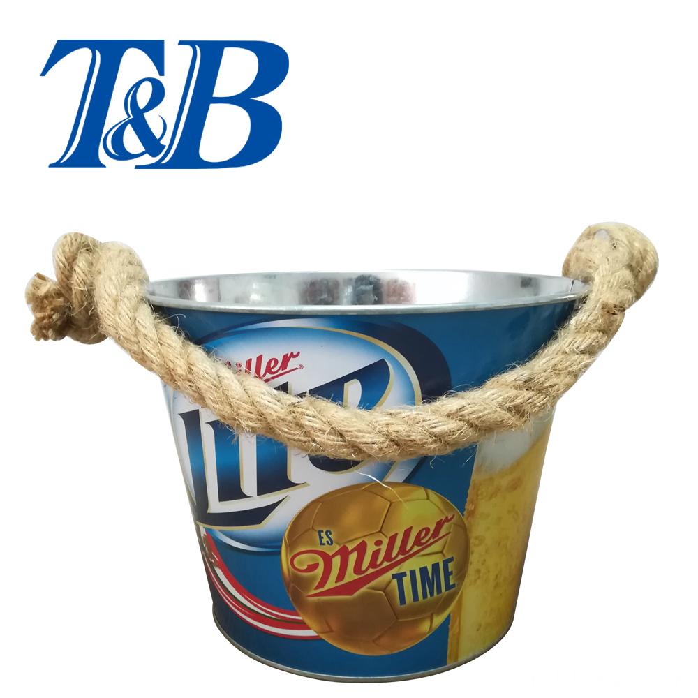 beer metal bucket