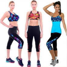 2015 New Designed Women Workout Printed Cropped Pants (56120)