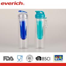 Botella plástica del jugo de fruta de Tritan nueva, botella de agua de la botella de la infusión de la fruta, libre de BPA